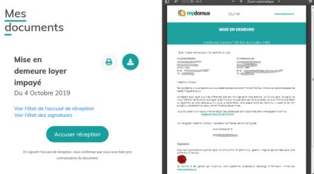 Signer un accusé de réception électronique de la lettre de préavis recommandée